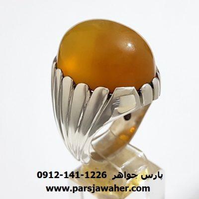 انگشتر مردانه عقیق زرد یمنی f402