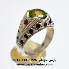 انگشتر نقره زبرجد 335