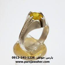 انگشتر قدیمی سفایر زرد 345