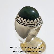انگشتر نقره یشم یمنی a353