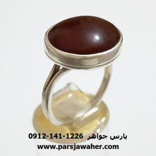 انگشتر ارزان قیمت نقره مردانه عقیق a355