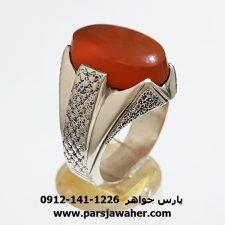 انگشتر عقیق یمانی مردانه a394