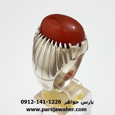 انگشتر نقره مردانه عقیق یمن f408