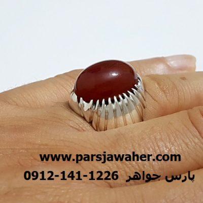 انگشتر نقره مردانه دست ساز f408