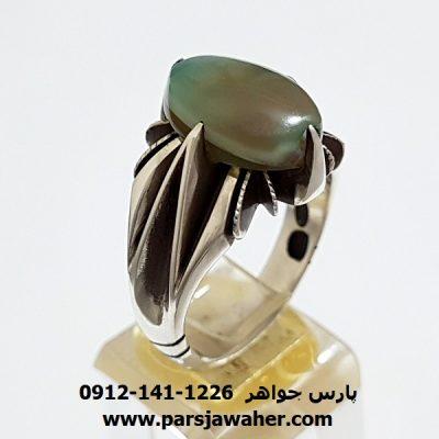 انگشتر جزع سماوي يمن f410
