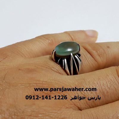 انگشتر جزع سه پوست يمني مُهره قديمي کمياب f410