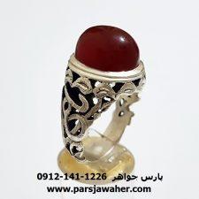 انگشتر مردانه عقيق يمن a356