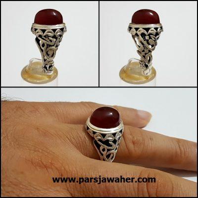 انگشتر مردانه رکاب نقره دست ساز حداد a356