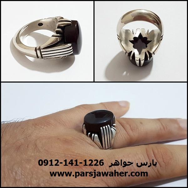 انگشتر نقره دست ساز مردانه a357