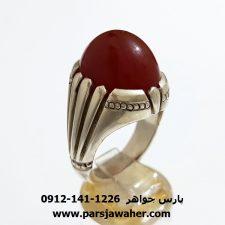 انگشتر جزع یمانی نقره a358