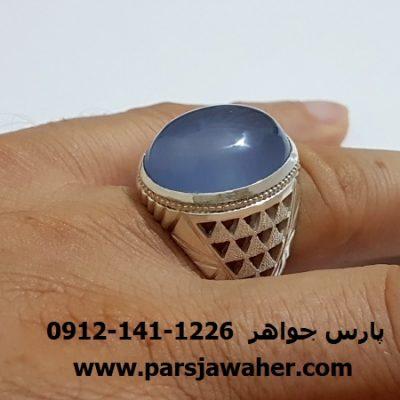 انگشتر مردانه رکاب نقره دست ساز a113