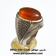 انگشتر عقیق تراش قطعی یمن f416