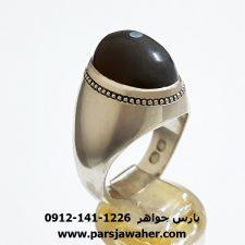 انگشتر نقره جزع باباقوری a363