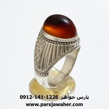انگشتر مردانه عقیق یمنی f418