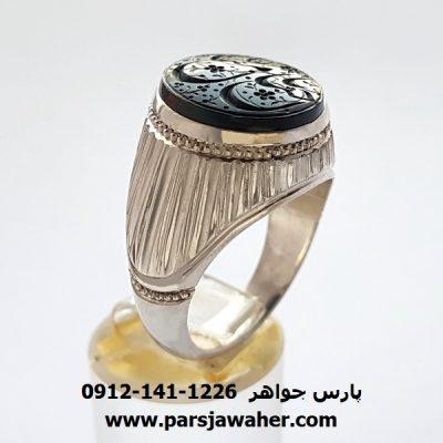 انگشتر یشم یمن خطی 7082