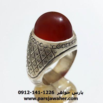 انگشتر مردانه نقره عقیق یمن a364