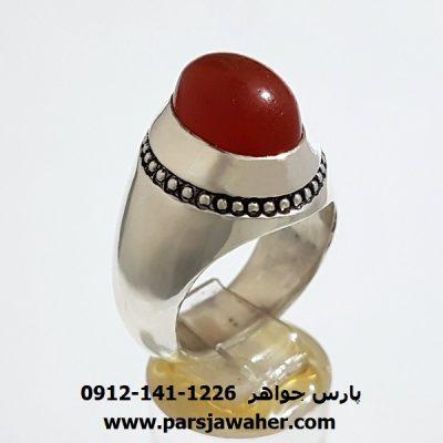 انگشتر مردانه عقیق یمنی a365