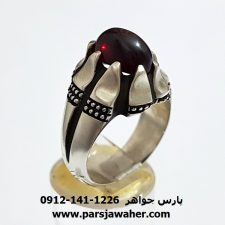 انگشتر مردانه یاقوت سرخ 349
