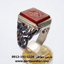 انگشتر عقیق یمنی خطی 8269