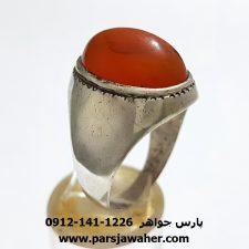 انگشتر قدیمی مردانه عقیق یمنی a257