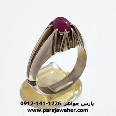 انگشتر نقره یاقوت سرخ 350