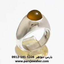 انگشتر عقیق زرد یمنی a372