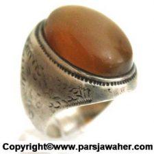 انگشتر مردانه جزع یمنی 3010