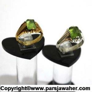 انگشتر ازدواج زبرجد 125