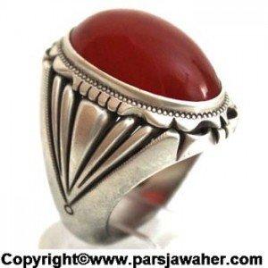 انگشتر نقره عقیق یمنی نفیس و زیبا