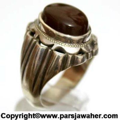 انگشتر مردانه جزع یمنی 3011
