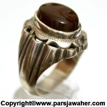 انگشتر مردانه جزع یمنی a365