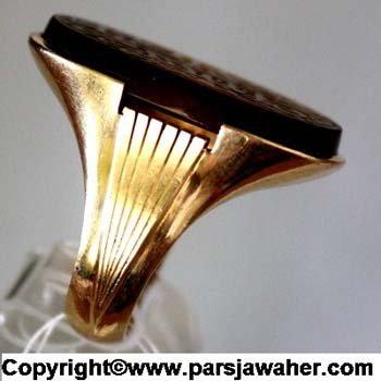 انگشتر طلا جزع یمانی اصل