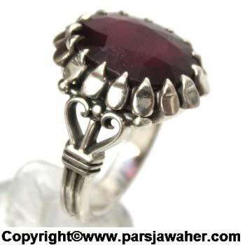انگشتر مردانه یاقوت سرخ 348