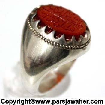 انگشتر مردانه نقره حیدری 2712