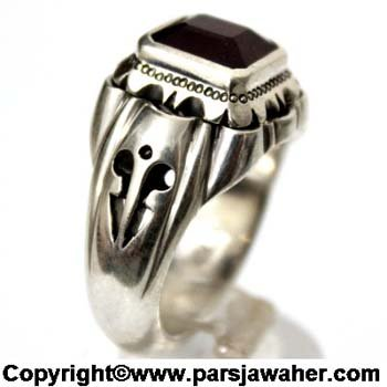 انگشتر مردانه یاقوت سرخ 1023
