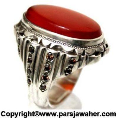 انگشتر مردانه عقیق یمانی 1002