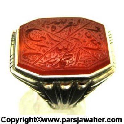انگشتر دست ساز نقره 2858