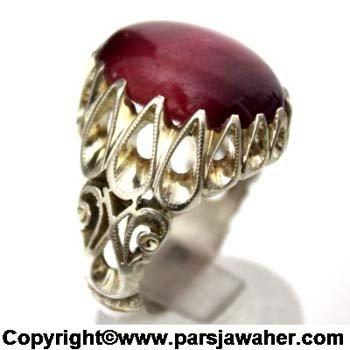 انگشتر مردانه یاقوت قرمز 170