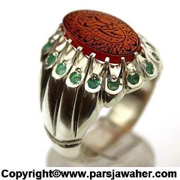 رکاب دست ساز جواهری نقره 2864
