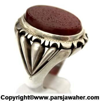 انگشتر نقره دست ساز مردانه 2335