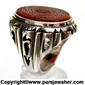 انگشتر مردانه نقره 2212