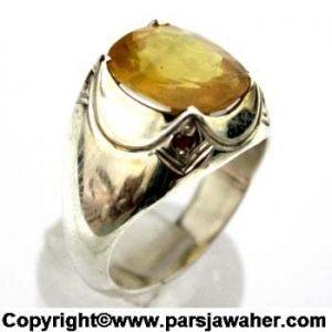 انگشتر یاقوت زرد 325