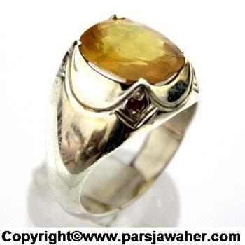 انگشتر یاقوت زرد 1025
