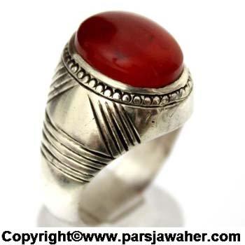 انگشتر عقیق قرمز یمنی 1097