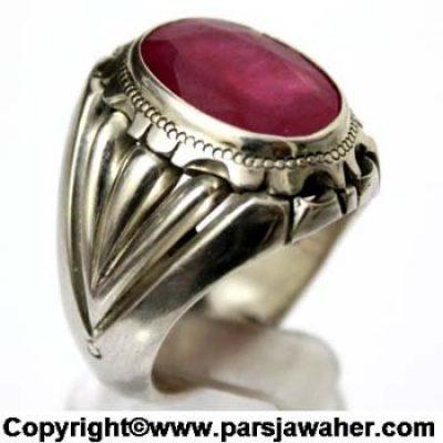 انگشتر مردانه یاقوت سرخ 1040