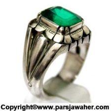 انگشتر تورمالین سبز 183