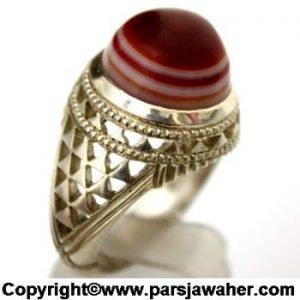 انگشتر مردانه عقیق سلیمانی 1084