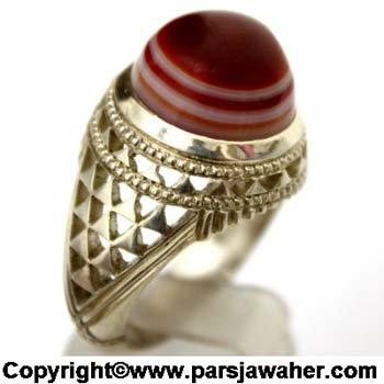 انگشتر مردانه عقیق سلیمانی یمنی 1084