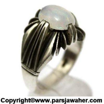انگشتر اوپال سفید استرالیایی 191