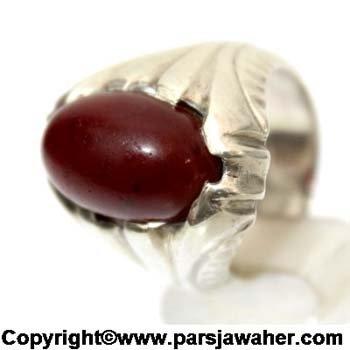 نگین انگشتر مردانه عقیق یمنی سرخ 1084